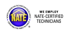For your AC repair in Mobile AL, trust a NATE certified contractor.